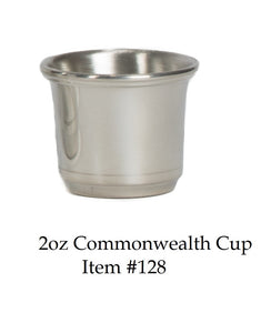 "Commonwealth 2 oz Jigger Item #128 - 1 7/8"" tall 2 1/8"" wide"