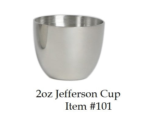 Jefferson Cup 2 oz - Item #101 - 1 5/8