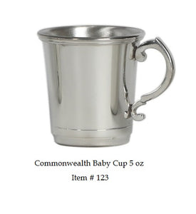 "Commonwealth 5 oz Baby Cup Item #123 - 2 7/8"" tall 2 7/8 wide"