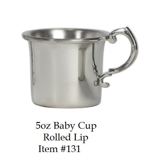 Pewter Rolled Lip Baby Cup