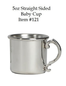 "Straight Sided 5 oz Baby Cup - Item #121 - 2 3/8"" tall, 2 7/8"" wide"