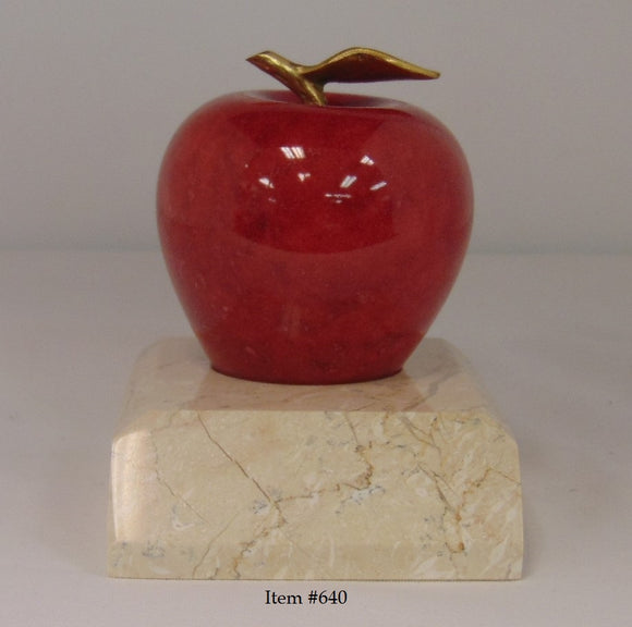 Marble Apple with Base - Item #640