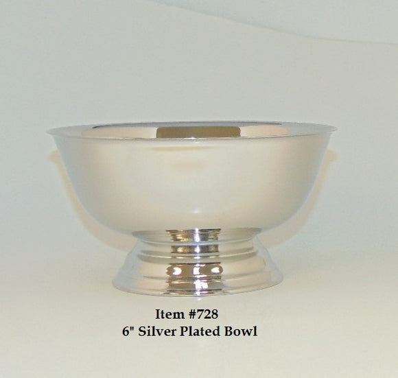 6 in Silver Plated Bowl
