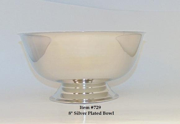 8 in Silver Plated Bowl