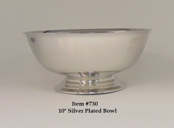 10 in Silver Plated Bowl
