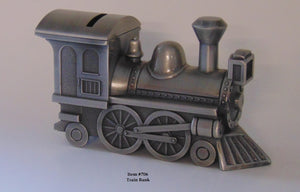 "Train Bank - 6"" long, 3"" tall, 2.25"" wide"