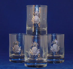 Double Old Fashioned with Pineapple Motif  Item #653-PNA