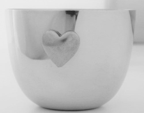 Pewter Jefferson Cup w/ Heart Charm