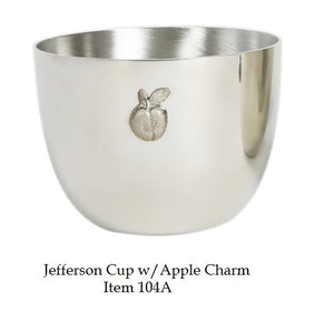 Jefferson Cup 8 oz with Apple Charm  - Item #104A