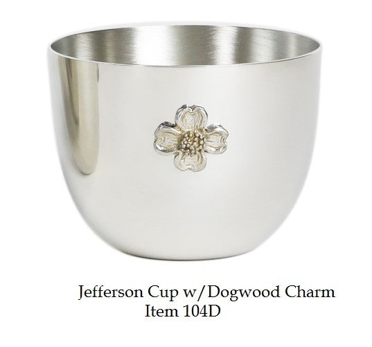 Jefferson Cup 8 oz with Dogwood Charm - Item #104D