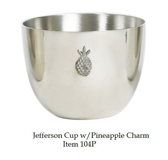 Pewter Jefferson Cup with Pineapple Charm