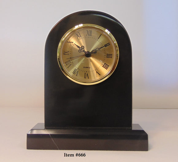 Marble Tomb Clock - Item #666 - 7 3/4