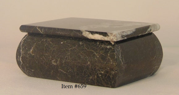 Marble Hinged Box # 659