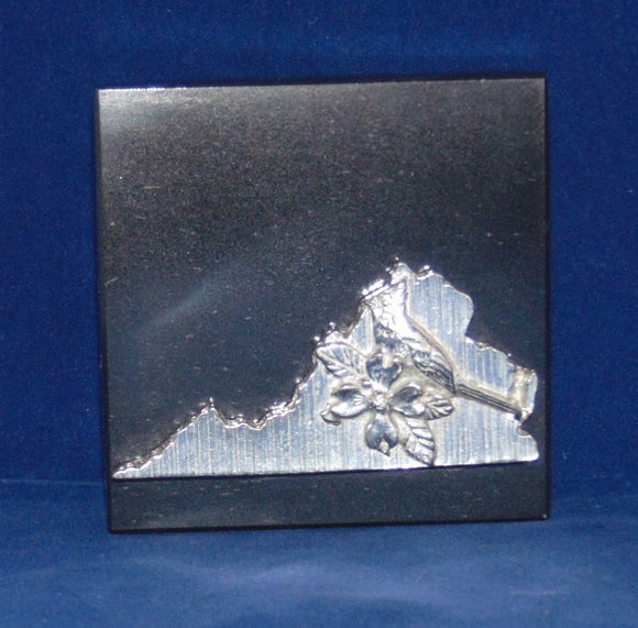 Marble Paperweight with Virginia - Item #662VA - 3