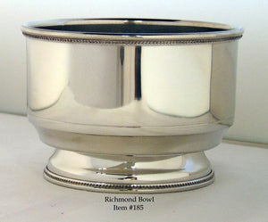 "Richmond Bowl - Item #185 - 3 3/4"" tall, 5 1/4"" wide"