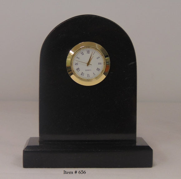Marble Tomb Clock Small # 656