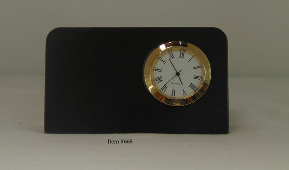 Marble Wedge Clock - Item #668 - 3 1/2