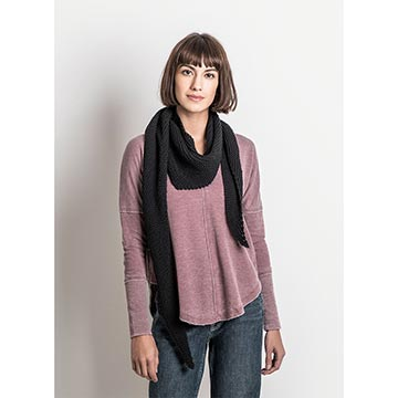 Woman wearing the Bloomington Bandana by Blue Sky Fibers