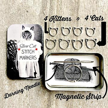 Cat Knitting Notions Knit Kit