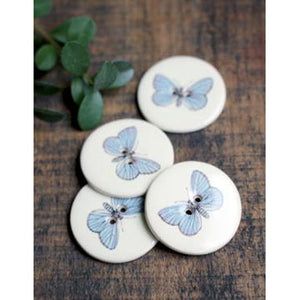 image of ceramic butterfly buttons