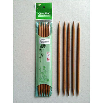 "ChiaoGoo Bamboo 8"" Double Pointed Needles-The Craftivist Atlanta"