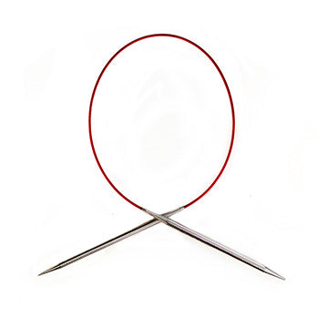 "ChiaoGoo 47"" Red Lace circular needles"