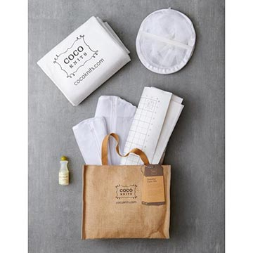 Cocoknits Sweater Care Kit with jute bag