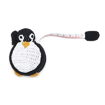 Crocheted Tape Measure-Penguin-The Craftivist Atlanta