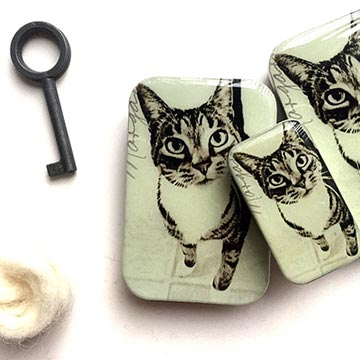 Cat Notions Tin (Large)-Cat-The Craftivist Atlanta