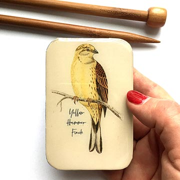 Yellow Hammer Finch Notions Tin (Large)-Yellow Hammer Finch-The Craftivist Atlanta