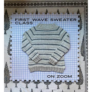 Wave of Change Pullover First Sweater Class