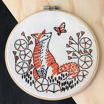Fox Embroidery Kit