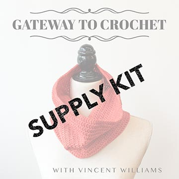 Supply kit for the Intro to Crochet class