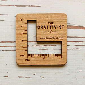 The Craftivist Gauge Swatch Ruler