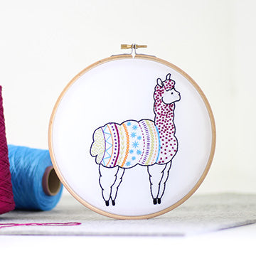 Alpaca Embroidery Kit