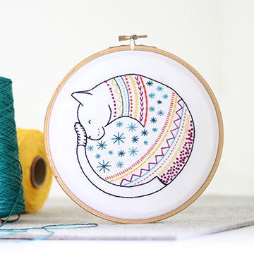Cat Embroidery Kit