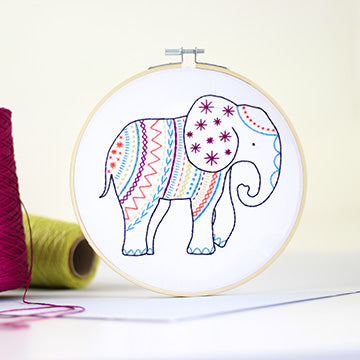 Elephant Embroidery Kit
