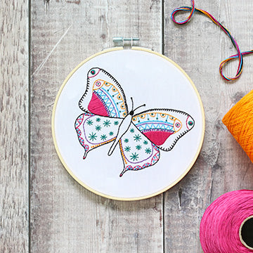 Butterfly Embroidery Kit
