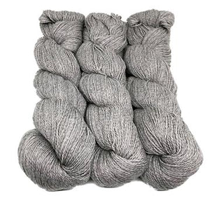 hanks of Illimani Sabri yarn in Grey