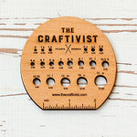 The Craftivist Knitting Needle Gauge