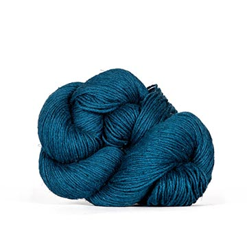 a hank of Kelbourne Woolens Mojave in Prussian Blue