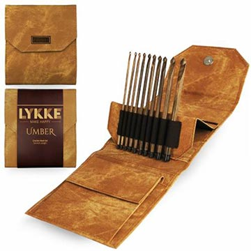 "Lykke 6"" Crochet Hook Set-Umber-The Craftivist Atlanta"