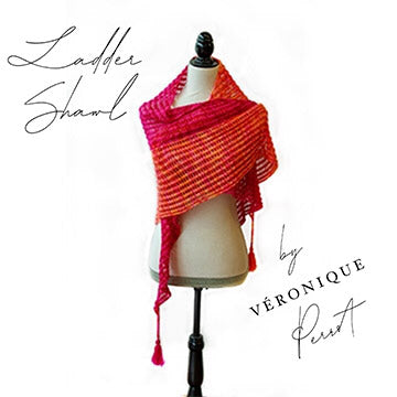 Ladder Shawl by Véronique Perrot-The Craftivist Atlanta