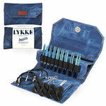 "Lykke Indigo 3.5"" Interchangeable Circular Needle Set-The Craftivist Atlanta"