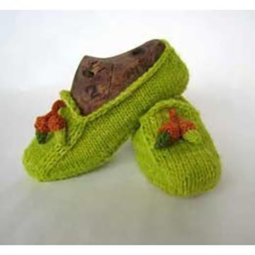 Knitted loafters in Malabrigo yarn