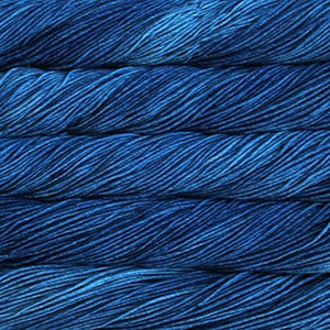 Malabriog Rios superwash worsted yarn in Blue Jean