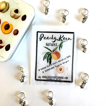 Peachy Keen Stitch Markers