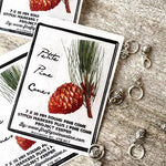 Pine Cone Stitch Markers-The Craftivist Atlanta