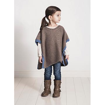 Kid wearing the Puddle Jumper Poncho in Spud and Chloe Sweater