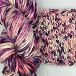 Malabrigo Rasta Pintada in Blueberry Cream